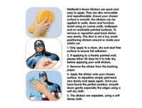 Captain America Large Character Wall Sticker (wall safe adhesive)